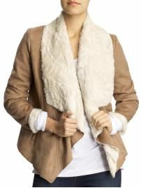 shearling waterfall jacket