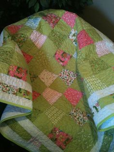 A Beautiful 45 X 51 Quilt In The Moda by WrappingYouInWarmth, $115.00