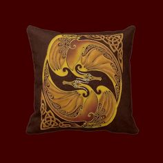 A traditional Celtic design: two dragons entwined in the typical Celtic knotwork - taken from an ancient drawing and re-painted digitally. Perfect for dragonlovers, and also lovers of Celtic art.