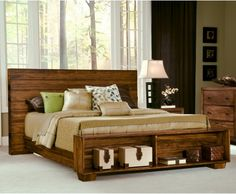 Angelo: HOME Chelsea Park Solid Wood Platform Bed - Macchiato - Platform Beds at Hayneedle Love this bed for one of the boys rooms