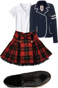 """school girl (uniformed)"" by maddieprater ❤ liked on Polyvore"