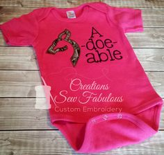 Adoeable Shirt  Hunting Baby Bodysuit or by CreationsSewFabulous