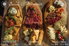 charcuterie boards - keep the meat separate for the vegetarians :)