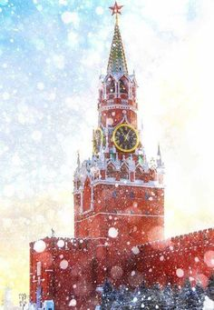 The Gothic-style Spasskaya (Savior) Tower is considered as the most beautiful tower of the Moscow Kremlin by citizens and tourists. It was built under the supervision of Pietro Antonio Solari in 1491 and stands on the north-eastern side of the citadel, bordering Red Square.The clock on the tower is referred to as the Kremlin chimes as it designates official Moscow time.  Photographer Caribb