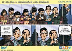 La incomunicación en la era tecnológica (Gracias, Rosa)