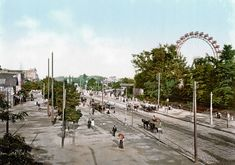 size: Photographic Print: View Down the Main Avenue in the Prater Vienna with the Giant Ferris Wheel on the Right : Entertainment Visit Austria, Vienna Austria, Ways Of Seeing, Best Cities, Worlds Of Fun, Great Places, Paris Skyline, National Parks, Street View