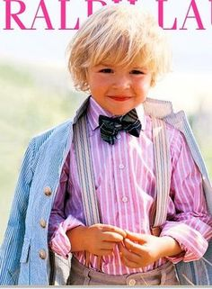 Ahh the bow tie and suspenders- how cute!