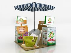 POS Display - This P & G POS display is conceived by Egyptian designer Amr Ali. The summer-ready fixture is inspired by the warm season and boasts tropical e. Pos Display, Store Displays, Display Design, Booth Design, Pos Design, Layout Design, Summer Store, Booth Decor, Point Of Purchase