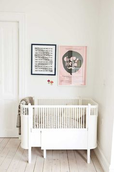 More Scandinavian nurseries in white, so lovely, but wish we could see the bedding...