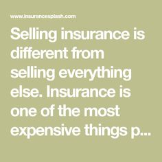 Selling insurance is different from selling everything else. Insurance is one of the most expensive things people buy and they can't see it, touch it, or hold it. You're selling ideas. You're selling trust. You're selling promises. You're selling yourself. This is such a huge challenge that most insurance salespeople quit in the first 2 [...]