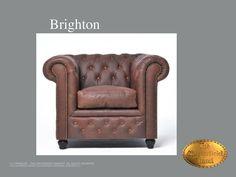 Chesterfield 1 zits bank</br>Brighton 1 Vintage Vintage Bruin