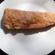 Salmon with horseradish and honey