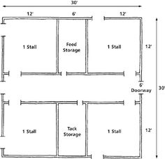 for the barn I hope I have someday. Hay storage above, center aisle, and enough stalls for at least one boarder, maybe. Horse Shed, Horse Barn Plans, Horse Stables, Horse Barns, Horses, Dream Stables, Barndominium Pictures, Barndominium Floor Plans, Shopping