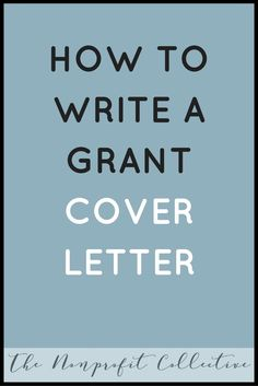 Looking for how to write a Grant Cover Letter? Check out this example to help make the process easier for your Nonprofit Grant Writing!