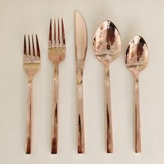 Signature Party Rentals | Out With The Old, In With The Rose Gold | Rose Gold Flatware