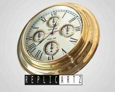 Antique Wall Clock Made of Brass