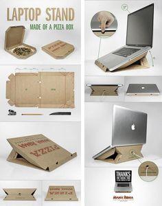Best Ideas For Cardboard Furniture Diy Organizers Products Diy Organizer, Diy Organization, Cardboard Organizer, Cardboard Furniture, Cardboard Crafts, Diy Furniture, Support Portable, Diy Craft Projects, Laptop Stand