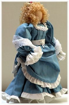 Victorian Dolls, Victorian Traditions, The Victorian Era, and Me: My Victorian Lady Doll Mattie - Victorian Lady Doll