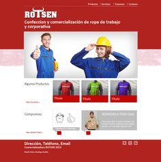 Maqueta de Sitio Web para Rotsen