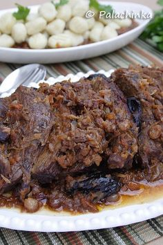 Pašticada-a Croatiian Sweet and Savory Pot Roast with Onions, Garlic, Pancetta, Red Wine, Tomatoes,  Dried Fruit, Cloves...
