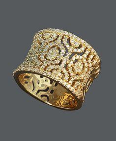 Effy Gold/Diamond Hexagon Ring