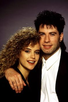 Adorable Throwback Photos of Long-Lasting Hollywood Couples - John Travolta and Kelly Preston: Longtime loves Travolta and Preston wed in 1991 after meeting on the set of The Experts in Clearly, Travolta's mullet didn't faze her. Hollywood Couples, Celebrity Couples, Hollywood Stars, Hollywood Pictures, Famous Couples, Famous Men, Famous Faces, Famous People, Pulp Fiction