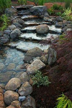 Cascade et  fontaine de jardin , 69 déco pour les moments de relaxe - relaxante-cascade-de-jardin-naturele