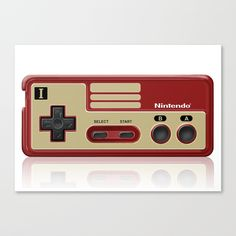 Classic retro Red Gold game controller @pointsalestore   Canvas Print #society6threesecond #canvasprint #Photography #videogames #Digitalmanipulation #Macro #Vintage #Nintendo #Sega #Dreamcast #Classic #Retro #8bit #mario #brothers #digital #cool
