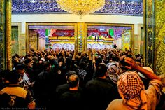 """""""Whoever wishes to see such a person who lives on earth but whose dignity is honoured by the Heaven-Dwellers, should see my grandson Hussein.""""  — The Messenger of Allah (ص), regarding Imam Hussein (ع)"""