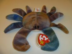 b0baacdb873 Rare   Retired Beanie Baby CLAUDE the Ty-Died Crab style 4083 TY Tag  Protector