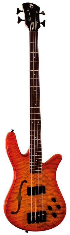 "Spector ""SpectorCore 4"" Hollow Body Bass --- https://www.pinterest.com/lardyfatboy/"