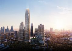 Image 1 of 4 from gallery of Vertical Village - SOM Leads Design of Major Mixed-Use District in Bangkok. One Bangkok will provide retail, hotels, offices, as well as homes for 60,000 people. Image Courtesy of SOM via Atchain