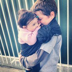 Gotta love snuggly big brothers! via @megnuno on instagram #sakurabloom #babywearing