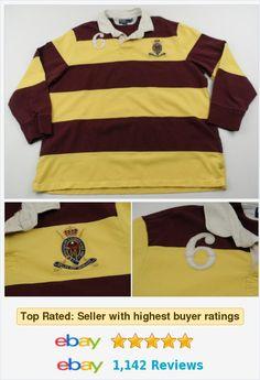 Polo Ralph Lauren Striped Rugby Shirt 2XL XXL Long Sleeve Patch Burgundy Yellow http://www.ebay.com/itm/Polo-Ralph-Lauren-Striped-Rugby-Shirt-2XL-XXL-Long-Sleeve-Patch-Burgundy-Yellow-/282036226826?ssPageName=STRK:MESE:IT