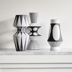 Each one of the Jonathan Adler Palm Springs Vases is hand-thrown by skilled artisans in our Peruvian workshop. The vibe—crafty yet couture, graphic yet organic—is achieved through levels of rigorous craftsmanship. Group together on the mantle or a centerpiece for your dining room table.