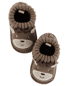 Baby Girl Reindeer Crocheted Booties