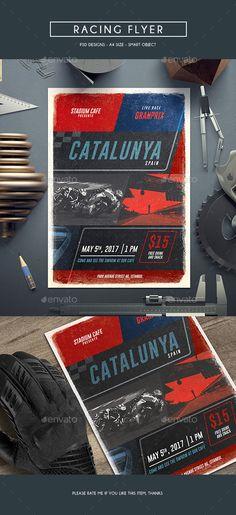 Racing Flyer Template PSD. Download here: http://graphicriver.net/item/racing-flyer/16516461?ref=ksioks