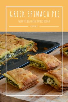 The most authentic, real, awesome Greek spinach Pie. See my way to create the best phyllo dough ever. Phyllo Dough Recipes, Greek Spinach Pie, Spanakopita, Create, Awesome, Ethnic Recipes, Food, Phyllo Recipes, Essen