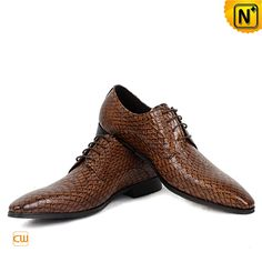 Mens Italian Leather Oxford Shoes CW762081 $195.89 - www.cwmalls.com