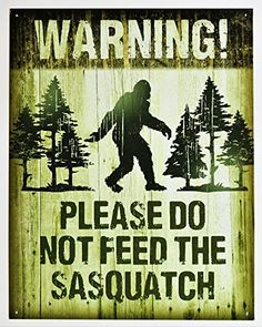 All signs are professionally painted using vibrant, quality paints. We have a wide variety of nostalgic, vintage, retro and sports signs. Our signs are perfect Bigfoot Birthday, Bigfoot Party, Tin Signs, Metal Signs, Wall Signs, Hanging Signs, Wall Plaques, Paranormal, Finding Bigfoot