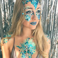 MERMAID GLITTER MAKEUP - THE GYPSY SHRINE GLITTERS AND JEWELS #the gypsy shrine #mermaid makeup #mermaid glitter #mermaid #glitter