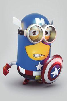 Minion Captin America