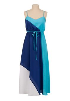 Colorblock Maxi Tank Dress available at #Maurices