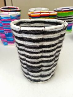 Art with Mrs. Nguyen: Cup Weaving 2.0 (4th) - cutting template included!