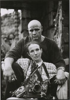 "Mary Ellen Mark, self-portrait with Marlon Brando on the set of ""Apocalpyse Now""  1979"