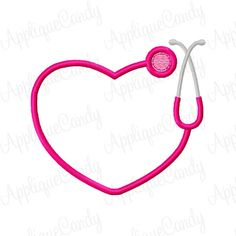 Heart Stethoscope Frame Machine Embroidery Design 3x3 4x4 5x5 INSTANT DOWNLOAD