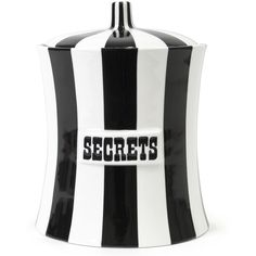 Jonathan Adler Secrets Canister (2,550 MXN) ❤ liked on Polyvore featuring filler, home, black, decor and home stuff
