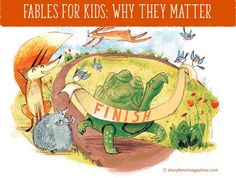 Fables are a brilliant introduction to morals and being a good global citizen for kids. Find out more on our blog: http://www.storytimemagazine.com/news/stuff-we-love/fables-for-kids-why-they-matter/