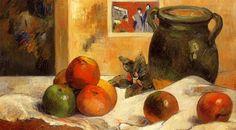Still life with Japanese print, Paul Gauguin, 1888.