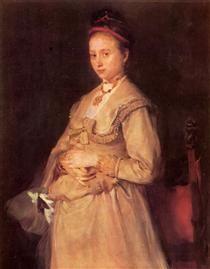 Porträt der Frau Gedon - Wilhelm Leibl